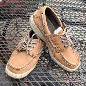 Boys Sperry Tan Boat Shoes